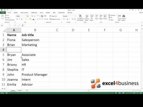 How to Insert Multiple Rows or Columns in Excel 2013