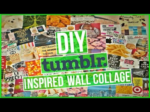 FUN EASY DIY HOW-TO : TUMBLR INSPIRED WALL PHOTO COLLAGE