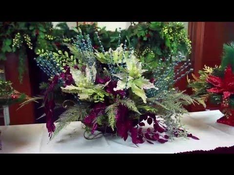 Artificial Christmas Flower Arrangements : Decorating for Christmas