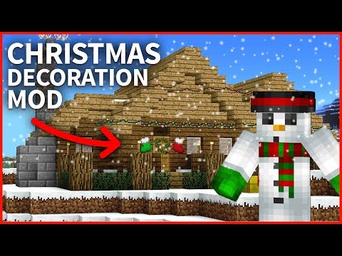 Minecraft - CHRISTMAS DECORATION MOD! Christmas Tree, Presents and more! Minecraft Mod (2017)