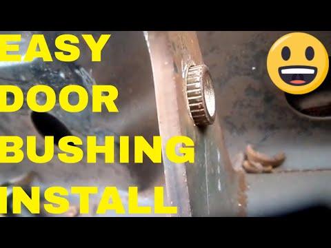Door bushing ,install easy on   Dodge ,Chrysler , Gm or Ford during door hinge replacement/door pins