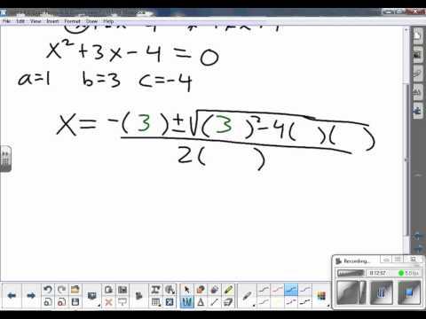 2013.2014 Honors Algebra 2 Notes 4.8 Quadratic Formula and Discriminant
