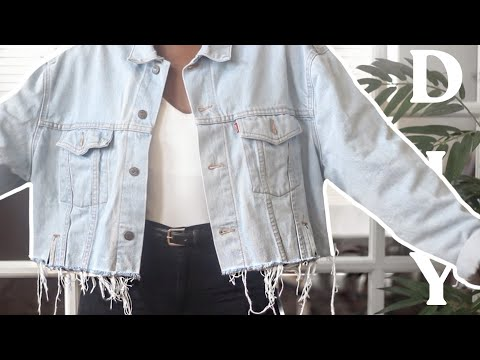 ✂️  DIY Distressed Hem Jacket | Revamping an Oversized Jacket