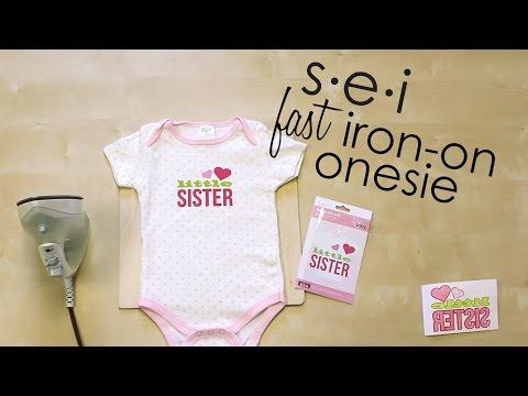 DIY Quick Onesie Decoration - Baby Shower // SEI Crafts