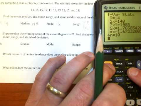 TI-84 Tutorial: Range, Standard Deviation, and Outliers