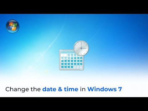 Adjusting your date and time settings in Windows 7