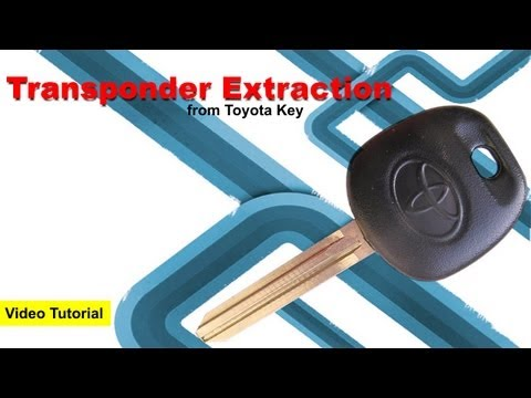 Extract Transponder Sensor from Toyota Key