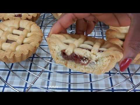 STRAWBERRY JAM TARTS | NUTELLA TARTS RECIPE | HOW TO MAKE SWEET SHORTCRUST PASTRY