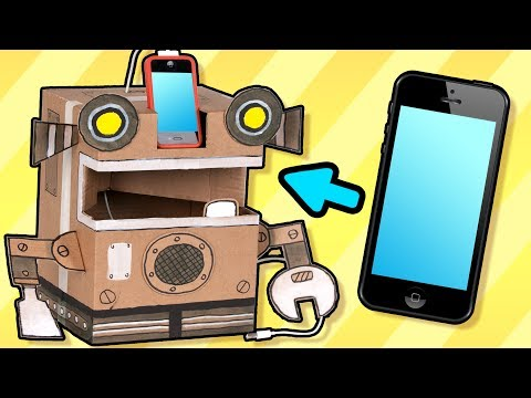 Cardboard Robot Phone Charger - Craft Ideas with Boxes | DIY on Box Yourself