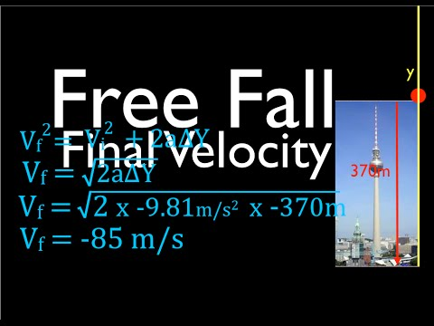 Physics, Kinematics, Free Fall (3 of 12) Solving for Final Velocity, No. 2