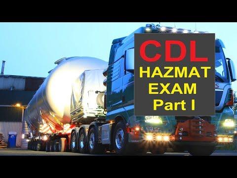 2017 CDL Hazardous Material HAZMAT Endorsement Exam Questions and Answers Part I