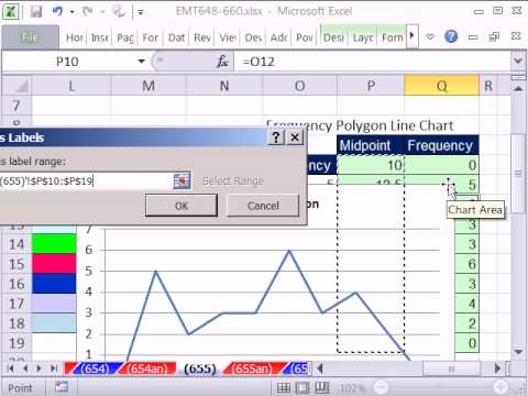 Excel Magic Trick 655: Frequency Polygon Line Chart