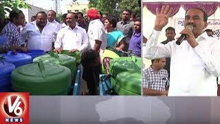 Etela Rajender & Gangula Kamalakar Participates in Smart-Green-Clean Karimnagar Program | V6 News