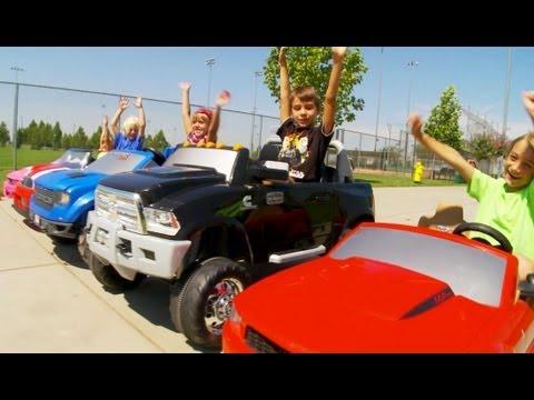 Power Wheels Race - 5 Racing Cars!