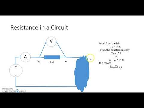 Resistance in Circuit and in the Body Part I
