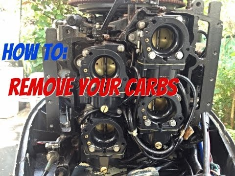 How to take off the Carburetor off an outboard