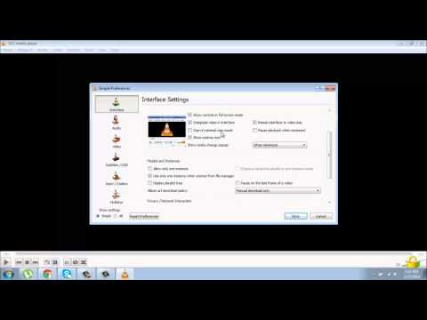 How to reset default all setting of vlc player