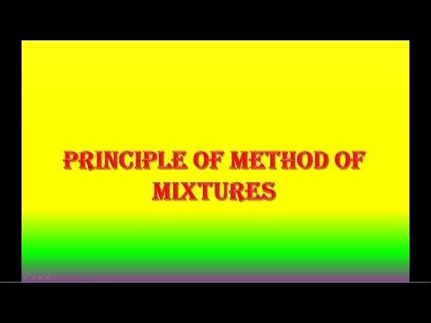 PRINCIPLE OF METHOD OF MIXTURES