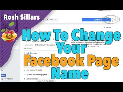How To Change Your Facebook Page Name and URL