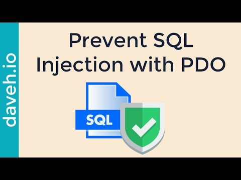 Avoid SQL injection attacks in PHP using PDO