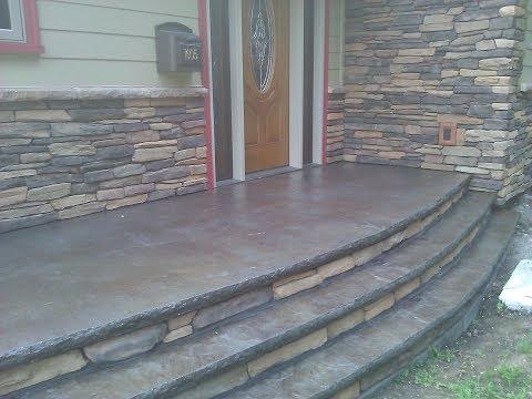 How to Make concrete steps