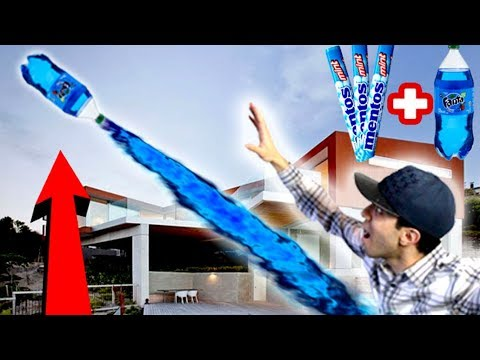 NERF SODA and MENTOS ROCKET MOD!! HOW TO LAUNCH A SODA BOTTLE OVER 150 FEET IN THE AIR!