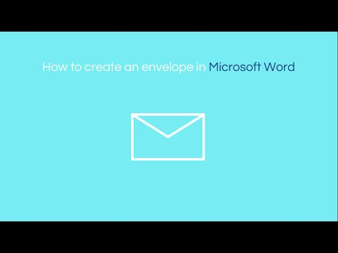 How to Create an Envelope in Word