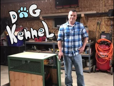 How to build a custom dog kennel.