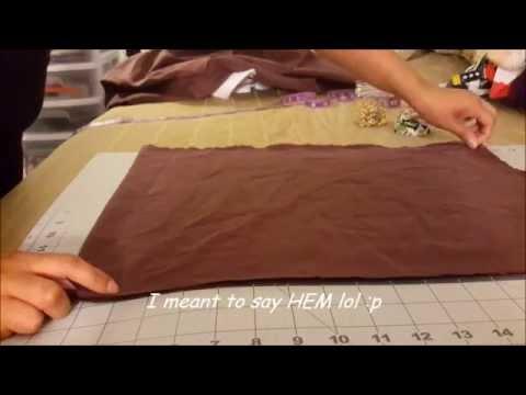 DIY Belle's Costume Part 1: Cloak/Cape