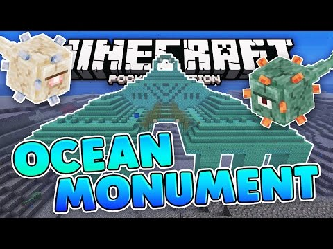 OCEAN MONUMENT SEED!! Minecraft Pocket Edition