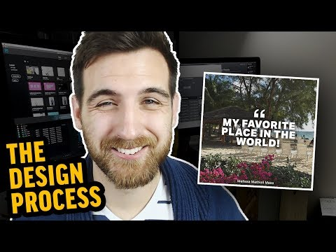 Designing a Social Media Quote in Photoshop | Graphic Design Process
