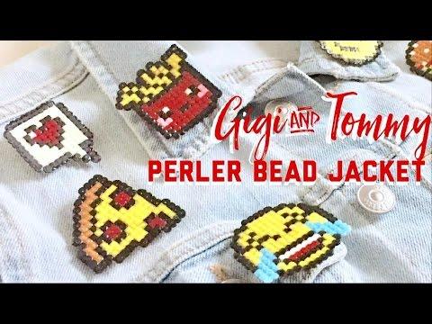 DIY Gigi Hadid x Tommy Inspired perler bead jacket