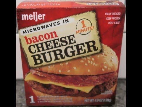 Meijer Bacon Cheeseburger Review