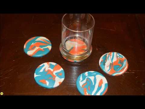 DIY Saturday l Marbled Clay Coasters
