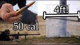Will 4 Feet Of Bulletproof Glass Stop A 50 Cal?