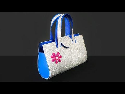 How to Make Glitter Foam Sheet Clutch Bag | Clutch Purse | Women Clutch Bag Tutorial