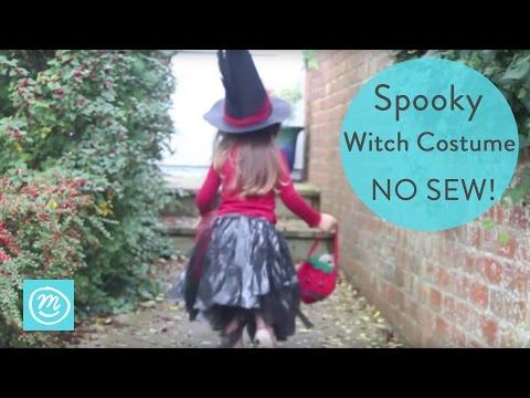 How To Make a Witch Costume for Kids | Channel Mum
