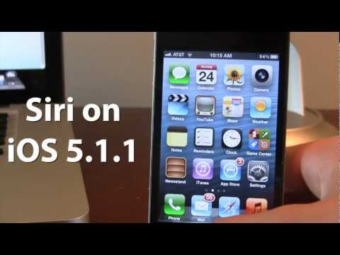 Install Siri on iOS 5.1.1 for iPhone 4, 3GS, iPod Touch 4, iPad 1,2,3