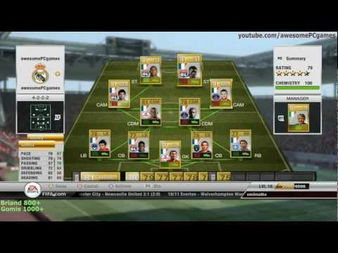 FIFA 12 Ultimate Team | Cheep Team 100 Chemistry | players like Henry, Valbuena, Menez (10k coins)