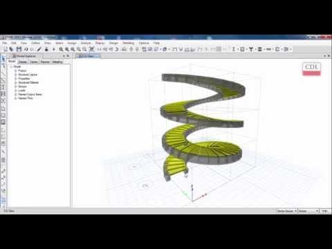 ETABS-Spiral Stair Modeling