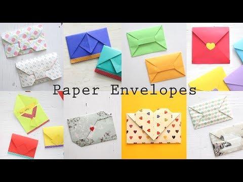 8 Easy Paper Envelopes | DIY Origami Tutorial | Ventuno Art
