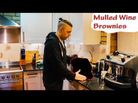 Mulled Wine & Chocolate Brownies || Christmas Cooking