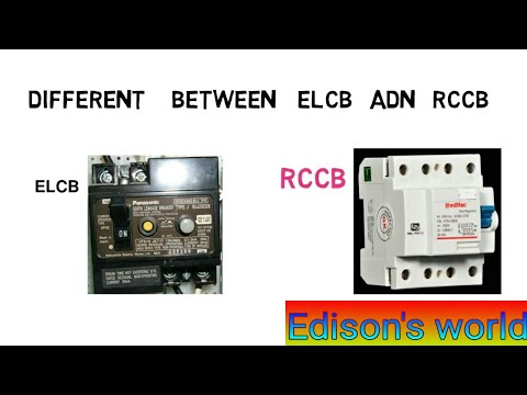 Difference b/w elcb and rccbearth leakage  circuit breaker and residual current circuit breakerr