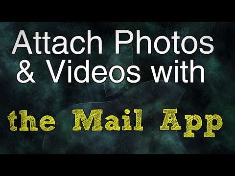 Attach photos and videos using the Mail app