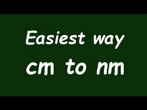 ✅ Convert Centimeter to Nanometer (cm to nm) - Formula, Example, Convertion Factor