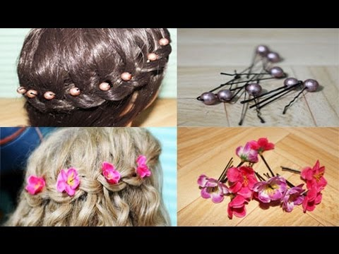 Easy DIY Flower and Beads Hair Accessories and Giveaway Winners