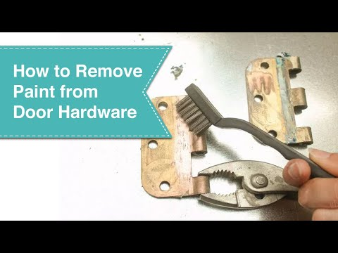 How to Remove Paint From Metal Hinges