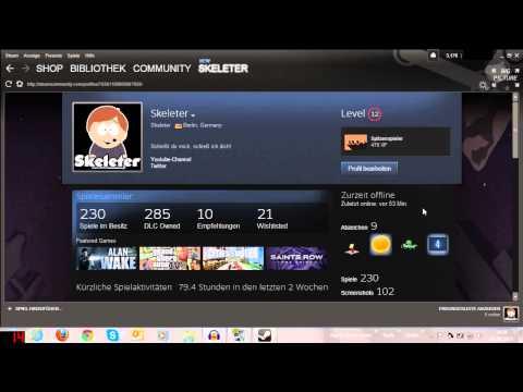Tutorials: Steam: Inventar Privatsphäre-Einstellung