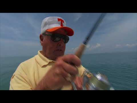Bill Dance Fishing for Topwater Bull Reds on the Space Coast
