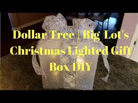Dollar Tree | Big Lot's Christmas Lighted Gift Box DIY